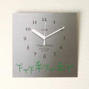 掛け時計【送料無料】GHOステンレス掛け時計S-03「新芽」【楽ギフ_名入れ】【楽ギフ_のし】掛時計 おしゃれ【10P01Nov14】