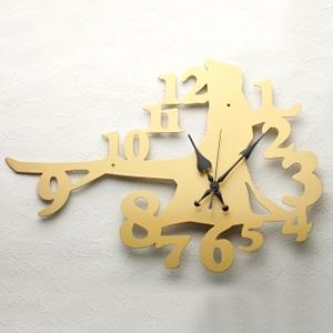掛け時計【送料無料】GHOステンレスレーザーカット掛け時計「WOOD」【楽ギフ_名入れ】【楽ギフ_のし】掛時計 おしゃれ【10P01Nov14】