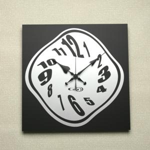 掛け時計GHOアクリル掛け時計<ブラック・プレートデザイン>【楽ギフ_名入れ】【楽ギフ_のし】掛時計 おしゃれ【10P01Nov14】