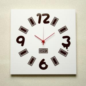 掛け時計GHOアクリル掛け時計<ホワイト・プレートデザイン>【楽ギフ_名入れ】【楽ギフ_のし】掛時計 おしゃれ【10P01Nov14】