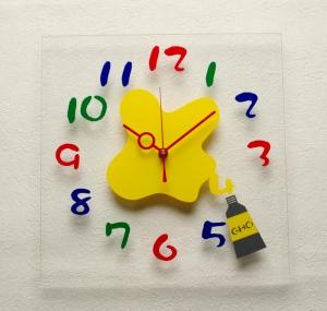 掛け時計GHOアクリル掛け時計(絵の具)【楽ギフ_のし】掛時計 おしゃれ【10P01Nov14】