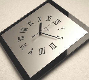 掛け時計掛時計 おしゃれ 名入れ ガラス 送料無料【楽ギフ_名入れ】【楽ギフ_のし】GHOオリジナルデザイン掛け時計AG-0407型【10P01Nov14】