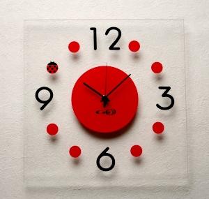 掛け時計GHOアクリル掛け時計(てんとう虫)【楽ギフ_のし】掛時計 おしゃれ【10P01Nov14】