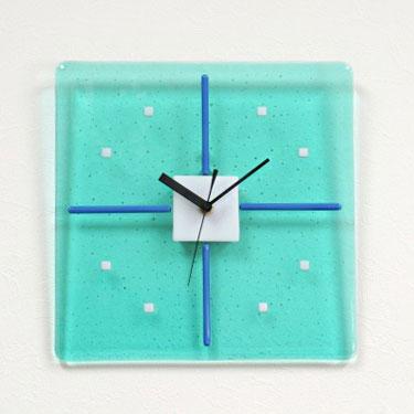 掛け時計おしゃれ かわいい 名入れ ガラス 掛時計【送料無料】【楽ギフ_名入れ】【楽ギフ_のし】GHO手作りガラス掛け時計GHO-03-01_S270【10P13Dec14】