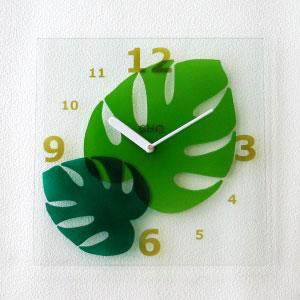 掛け時計おしゃれ  かわいい ガラス 掛時計【送料無料】【電波時計】【楽ギフ_名入れ】名いれ【楽ギフ_のし】GHOクリアガラス掛け時計gho-01-04_S280【10P01Nov14】