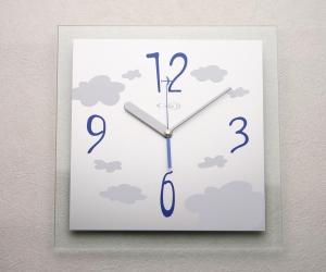 掛け時計名入れ おしゃれ 掛時計 ガラス 送料無料【楽ギフ_名入れ】【楽ギフ_のし】GHOオリジナルデザイン掛け時計AG-0101型「クリア」【10P01Nov14】