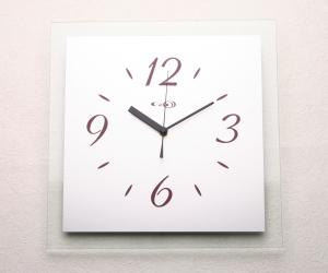 掛け時計掛時計 ガラス おしゃれ 名入れ 送料無料【楽ギフ_名入れ】【楽ギフ_のし】GHOオリジナルデザイン掛け時計AG-0102型「クリア」【10P01Nov14】