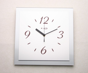 掛け時計GHOオリジナルデザイン掛け時計AG-0302型「シルバー」【楽ギフ_名入れ】【楽ギフ_のし】掛時計 おしゃれ【10P01Nov14】