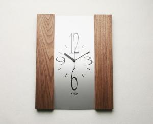 掛け時計【メッセージ料込み】【送料無料】掛け時計 木製 GHOオリジナルデザイン掛け時計(胡桃)AW-0203型 木製 掛時計 おしゃれ 名入れ【10P01Nov14】