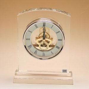 クリスタルガラス の 置き時計【マルカート】スケルトンクロック 【文字彫刻】【名前彫刻料込】置時計 おしゃれ【10P20Oct14】NARUMI製 オリジナルメッセージ 名入れ 込の 記念品 退職 卒業式 永年勤続 新築祝い にお勧めです