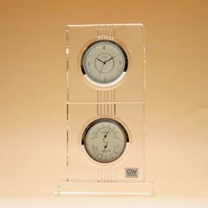 クリスタルガラス の 置き時計【エコロ】サーモクロック(D)【文字彫刻】【名前彫刻料込】置時計 おしゃれ【10P20Oct14】NARUMI製 オリジナルメッセージ 名入れ 込の 記念品 退職 卒業式 永年勤続 新築祝い にお勧めです