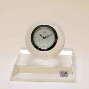 NARUMI製クリスタルガラスの置き時計【アース】 クロック 文字彫刻 名前彫刻料込 置時計 おしゃれ【10P20Oct14】