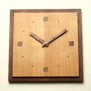 掛け時計【メッセージ料込み】掛け時計 木製【木の時計】GHO無垢時計「スクエア1」【楽ギフ_名入れ】【楽ギフ_のし】 掛時計 おしゃれ 名入れ【10P01Nov14】
