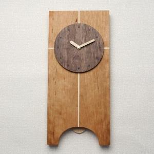 掛け時計【メッセージ料込み】掛け時計 木製【木の時計】GHO無垢時計「クロス」 掛時計 おしゃれ 名入れ【10P13Dec14】