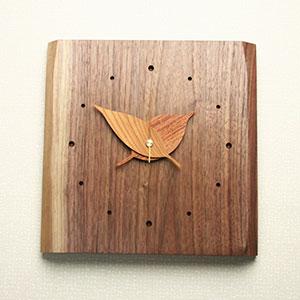 掛け時計【送料無料メッセージ料込み】木の葉時計木製 掛け時計 掛時計 おしゃれ【10P20Oct14】