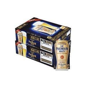 【送料無料!】2ケース単位!(北海道、沖縄、離島は除く。配送は佐川急便で。)サントリーザ・プレミアムモルツ350ML缶(6缶パック×4入=24本)×2ケース48本売り