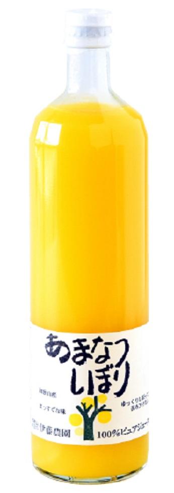 清涼飲料水 果汁100%ジュース 伊藤農園 100%ピュアジュース あまなつしぼり 750ml瓶 2ケース単位12本入り 日本・和歌山県