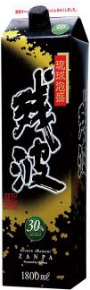 【送料無料!2ケース12本単位】【赤字覚悟の大放出!】(北海道、沖縄、離島地域は除く。佐川急便指定)30°残波ブラック1.8Lパック12本(ザンクロ)【泡盛】メーカー沖縄県:(有)比嘉酒造