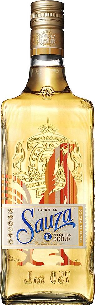 【1ケース単位12本入り】(北海道、沖縄と周辺離島は除きます。配送は佐川急便です。)「サウザ ゴールド」【スピリッツ(テキーラ)】750ML瓶 12本入りアルコール40%メキシコ
