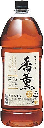 【送料無料!】1ケース6本(ただし北海道、沖縄、離島地域は除きます。配送はヤマト運輸指定です。)国産ウィスキー「合同香薫2.7Lペット6本(1ケース)37°(こうくん)」(日本・合同酒精)