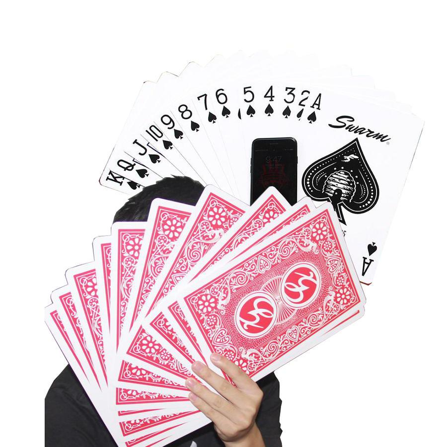 10%OFF カードセット手品 スタイリッシュ 大きい トランプ 格好良い パーティ グッズ サプライズ お洒落 XLサイズ セット ブラックジャック サイズ 好評受付中 インテリア ビッグ カード 約4倍 ポーカー