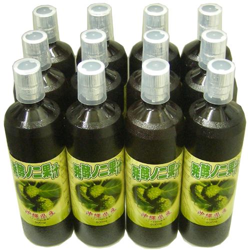 【送料無料】沖縄産発酵ノニジュース 900ml 12本セット
