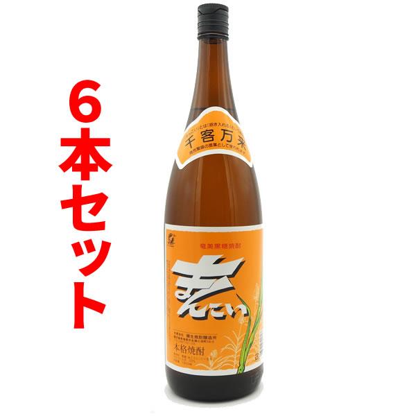 【送料無料】まんこい 30度/1800ml 6本セット【黒糖焼酎】【奄美大島】