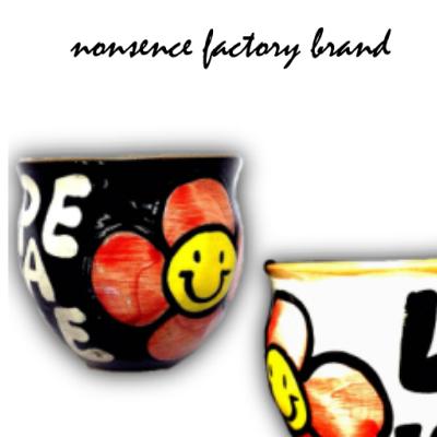 カップ スマイリー コロンとかわいいフリーカップ 軽量  陶器
