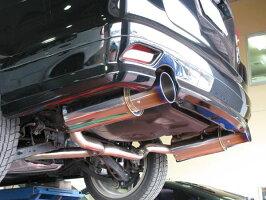 GP SPORTS EXAS EVO Tune マフラー エクシーガ 2.0GT YA5 ターボ 『リアピース交換タイプ』『JASMA認定 車検対応』『車高短対応』オールステンレス&チタンスライドテールマフラー◆ジーピースポーツ エグザス エボチューン