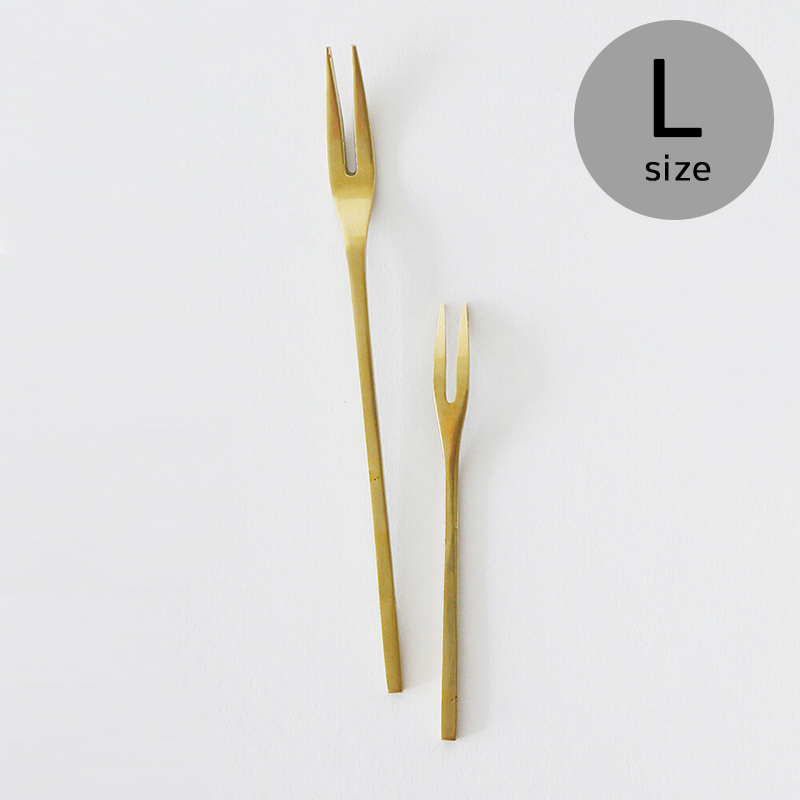 [メール便可] Horn Please MADE/BRASSスイーツフォーク(L)デザートフォーク 姫フォーク カトラリー 15cm 303712