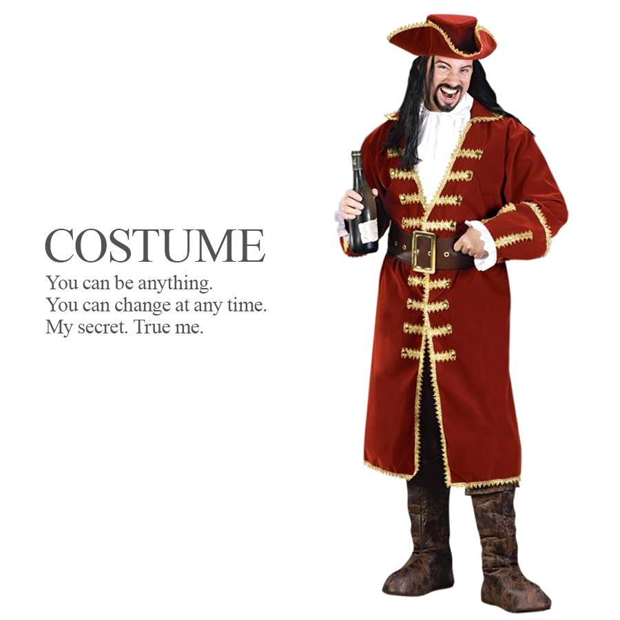 【送料無料】 【即納】 パイレーツキャプテン 4点セット 仮装 メンズ パイレーツ 海賊 ハロウィン コスプレ 衣装 コスチューム 【FUN WORLD】 HAL2018