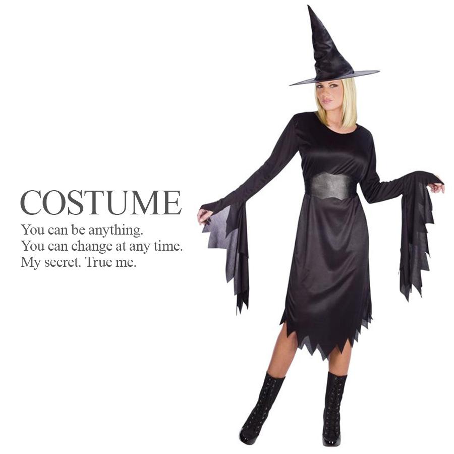 【即納】 黒の魔女 3点セット 魔女 ウィッチ 魔法使い 仮装 レディース セクシー ハロウィン コスプレ 衣装 コスチューム 【FUN WORLD】