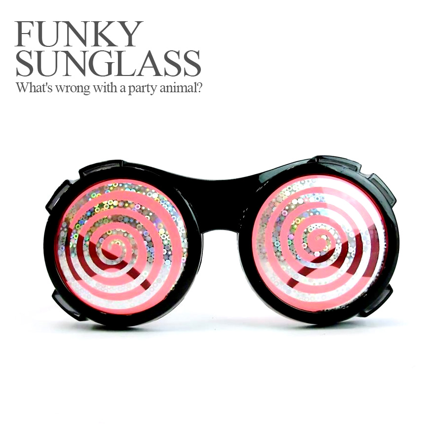 887f7fe7af Party specifications 120 %☆ funky sunglasses spiral (Halloween costume  disguise accessory sunglasses costume play)