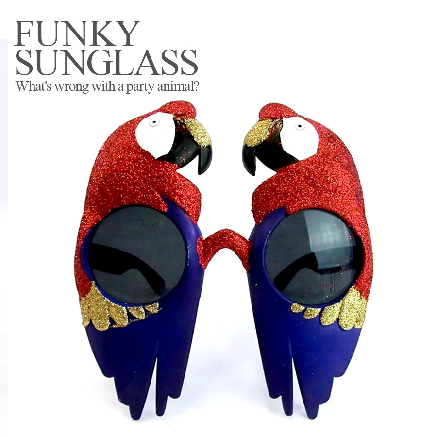 6ebff09389 Party specifications 120 %☆ funky sunglasses parakeet PARROT (Halloween  costume play costume disguise accessory sunglasses)