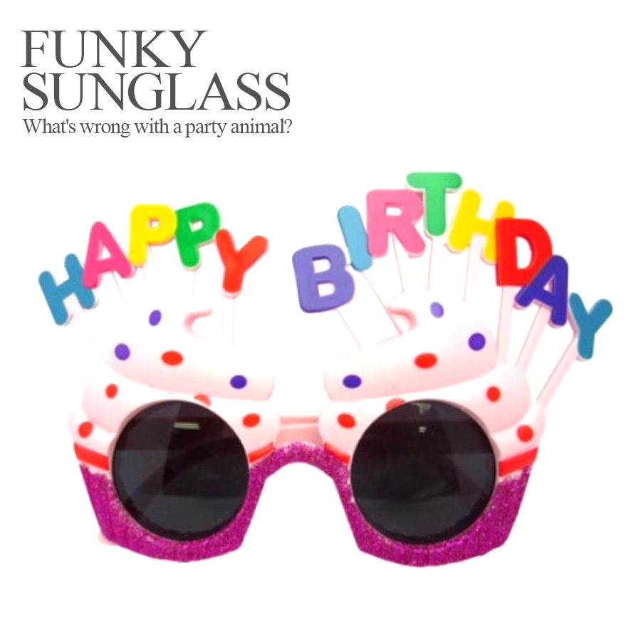 7b98cde9f3 ... Party specifications 120 %☆ funky sunglasses birthday ice (happy  Birthday birthday birthday Halloween costume ...