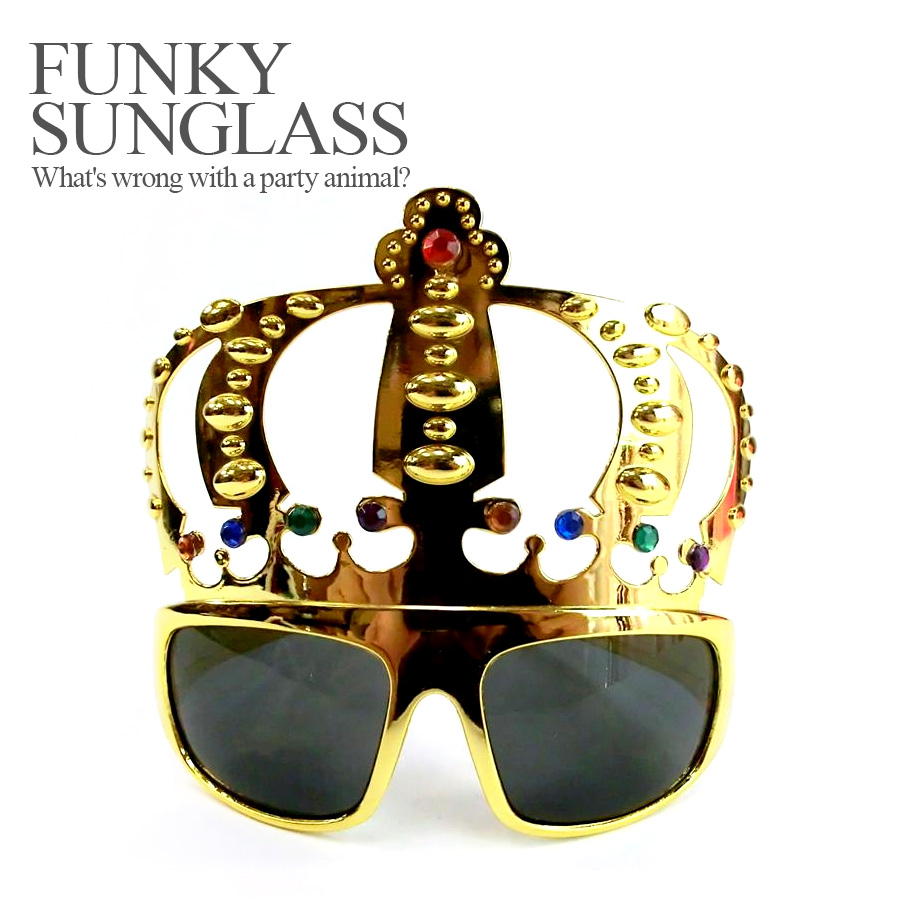 7005310b6b ... The party specifications 120 %☆ funky sunglasses crown crown (Halloween  costume disguise accessory sunglasses ...