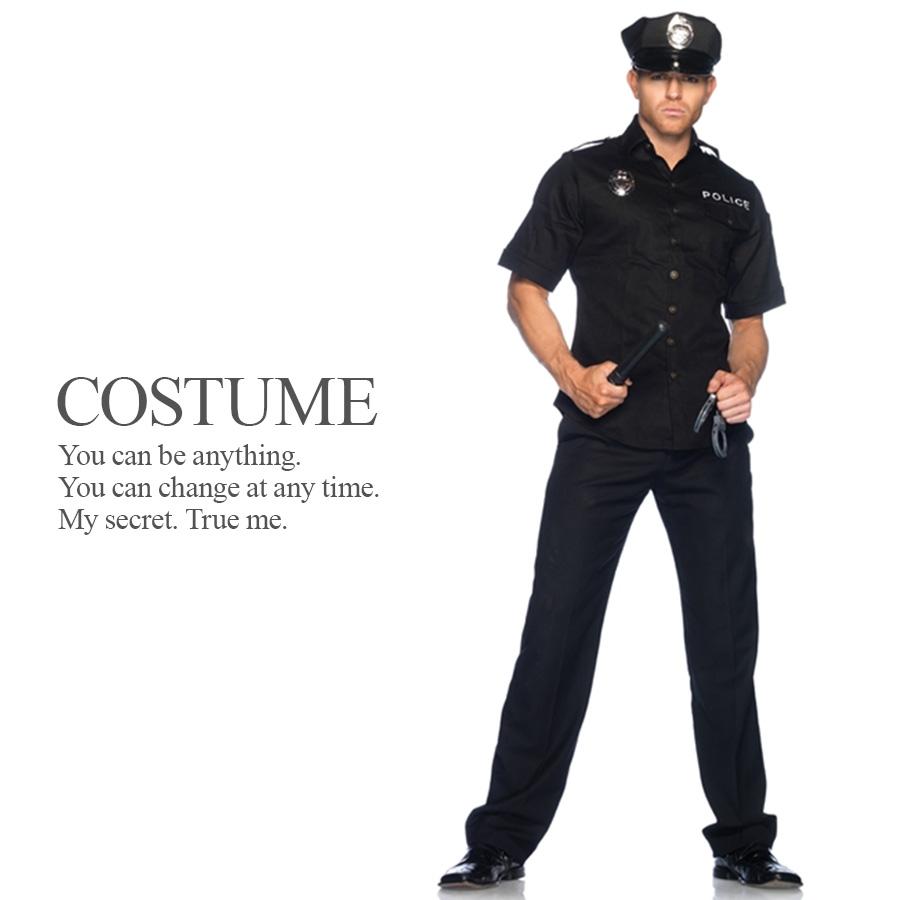 スタイリッシュポリス 4点セット 警察官 制服 メンズ ハロウィン コスプレ 衣装 コスチューム 【Leg Avenue レッグアベニュー LG-83122】