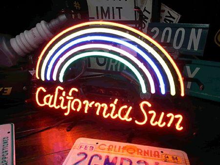 【サイズを選べるネオン管】 CALIFORNIA SUN 電飾 電光掲示板 照明 インテリア 看板 アメリカン雑貨 ネオンサイン ネオン管