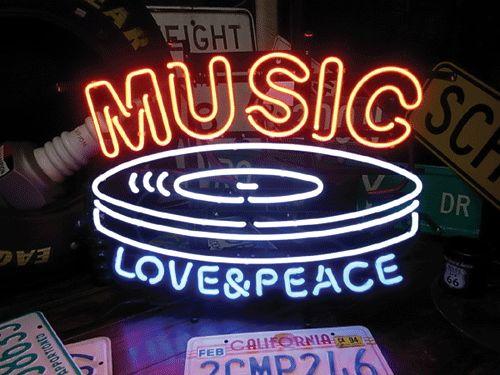 【サイズを選べるネオン管】 MUSIC レコード型 電飾 電光掲示板 照明 インテリア 看板 アメリカン雑貨 ネオンサイン ネオン管