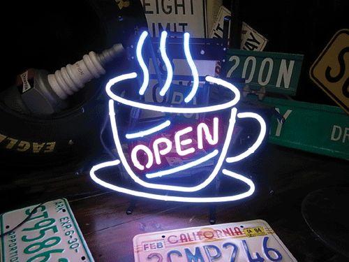 【サイズを選べるネオン管】ネオンサイン オシャレなカフェに♪オープンカフェネオン(電飾 電光掲示板 照明 インテリア 看板 アメリカン雑貨)