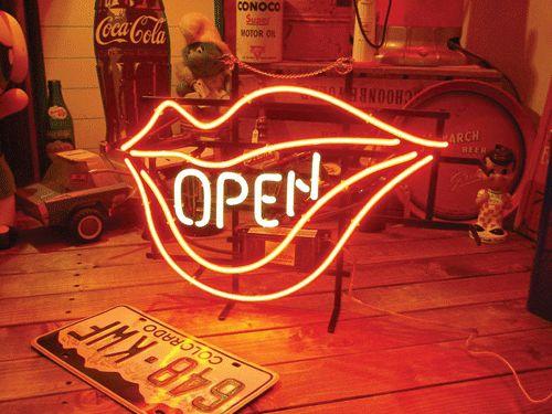 【サイズを選べるネオン管】ネオンサイン オープンリップネオン(電飾 電光掲示板 照明 インテリア 看板 アメリカン雑貨)