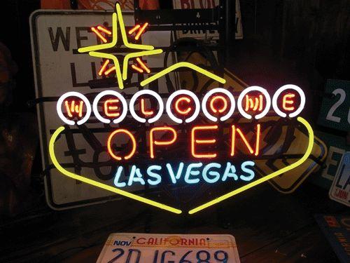 【サイズを選べるネオン管】 ラスベガスオープン 電飾 電光掲示板 照明 インテリア 看板 アメリカン雑貨 ネオンサイン ネオン管