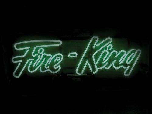 【サイズを選べるネオン管】ネオンサイン FIREKING(Green)(電飾 電光掲示板 照明 インテリア 看板 アメリカン雑貨)