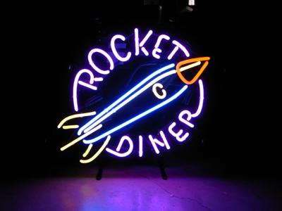 【サイズを選べるネオン管】 ROCKET DINER 電飾 電光掲示板 照明 インテリア 看板 アメリカン雑貨 ネオンサイン ネオン管