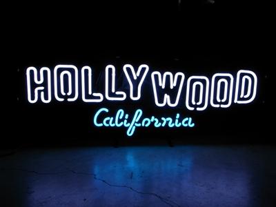 【サイズを選べるネオン管】 HOLLYWOOD 電飾 電光掲示板 照明 インテリア 看板 アメリカン雑貨 ネオンサイン ネオン管