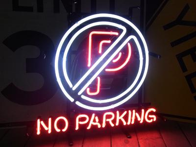 【サイズを選べるネオン管】ネオンサインNO PARKING 駐車禁止(電飾 電光掲示板 照明 インテリア 看板 アメリカン雑貨)