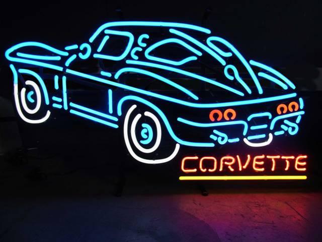 【サイズを選べるネオン管】 NEW CORVETTE ニューコルベット 電飾 電光掲示板 照明 インテリア 看板 アメリカン雑貨 ネオンサイン ネオン管