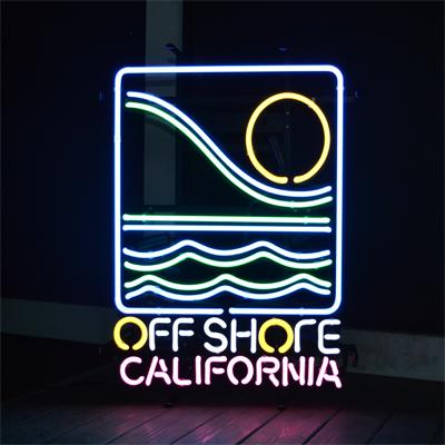 【サイズを選べるネオン管】 OFF SHORE CALIFORNIA オフショア カリフォルニア 電飾 電光掲示板 照明 インテリア 看板 アメリカン雑貨 ネオンサイン ネオン管