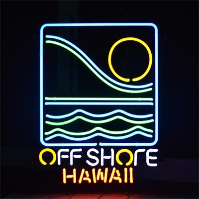 【サイズを選べるネオン管】 OFF SHORE HAWAII オフショア ハワイ 電飾 電光掲示板 照明 インテリア 看板 アメリカン雑貨 ネオンサイン ネオン管