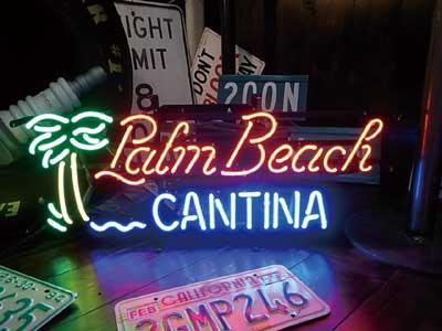 【サイズを選べるネオン管】ネオンサイン 【PALM BEACH】パームビーチ(電飾 電光掲示板 照明 インテリア 看板 アメリカン雑貨)